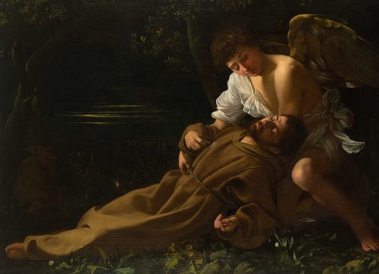 Caravaggio Saint Francis of Assisi in Ecstasy, 1594.  Wadsworth Atheneum Museum of Art, The Ella Gallup Sumner and Mary Catlin Sumner Collection Fund.
