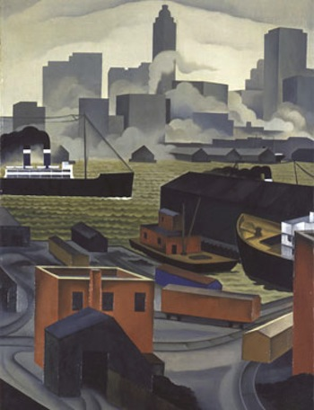 George Ault, (1891-1948). From BrooklynHeights, 1925. Collection of the Newark Museum, Purchase of the General Fund, 1928, 28.1802