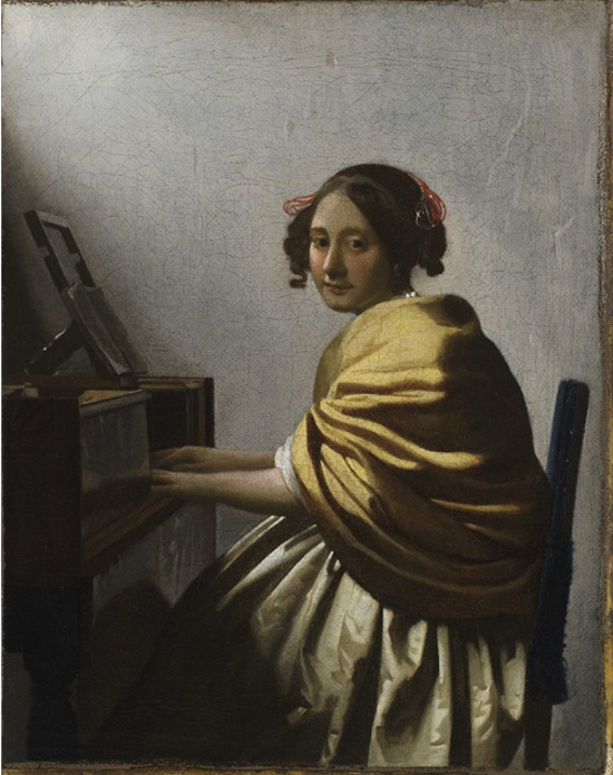 Johannes Vermeer Young Woman Seated at a Virginal, 1670-72, Dutch (active Delft), 1632-1675, Oil on canvas, ©The Leiden Collection, New York.