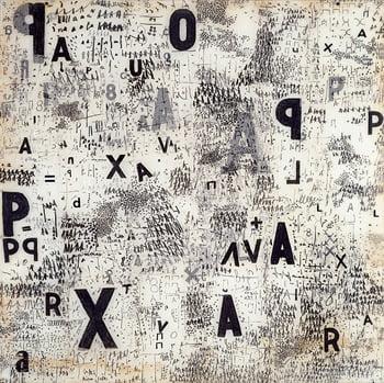 Mira Schendel, Graphic Object, 1967. Colección Patricia Phelps de Cisneros. © mira schendel estate.