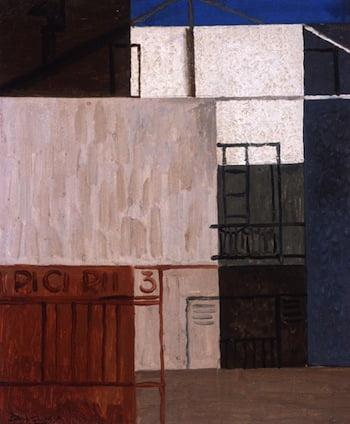 Pierre Daura (Catalan-American, 1896–1976), Untitled (Street PICIRII 3), 1929. Oil on canvas, 17 3/8 x 14 3/8 in. Georgia Museum of Art, University of Georgia; Gift of Martha Randolph Daura. GMOA 2003.390.
