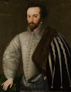 Sir Walter Ralegh by an unknown English artist, 1588. ©National Portrait Gallery, London.