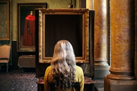 What Do You See? (Vermeer, The Concert), (detail), 2013. ©2013 Sophie Calle / Artists Rights Society (ARS), New York / ADAGP, Paris. Courtesy of Sophie Calle, Paula Cooper Gallery, New York, and Isabella Stewart Gardner Museum, Boston.