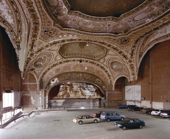 "Stan Douglas, Michigan Theater, from ""Detroit Photos"" series, 1999. Photograph. Courtesy of the artist and David Zwirner Gallery NYC, London."