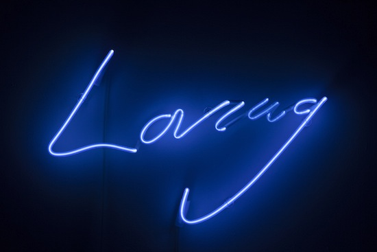 Tracey Emin, Clear Blue, 2013. Neon