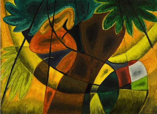 Arthur Garfield Dove (1880 - 1946), Swinging in the Park (There Were Colored People There), 1930. Oil on board, 23 1/4 x 32 in. (59.1 x 81.3 cm). Alfred Stieglitz Collection, Co-owned by Fisk University, Nashville, Tennessee, and Crystal Bridges - Museum of American Art, Inc., Bentonville, Arkansas. Photography by Edward C. Robison III.