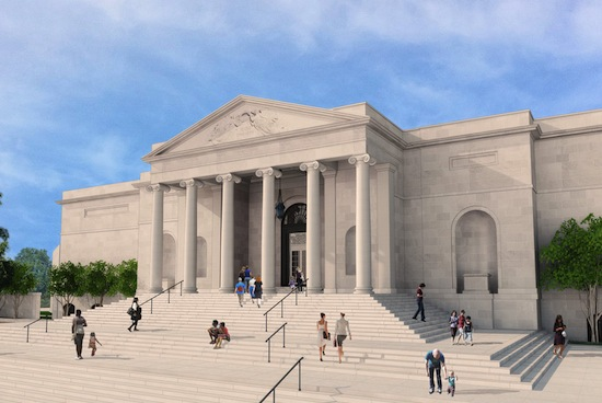 Baltimore Museum of Art Merrick Entry Rendering  Ziger/Snead Architects