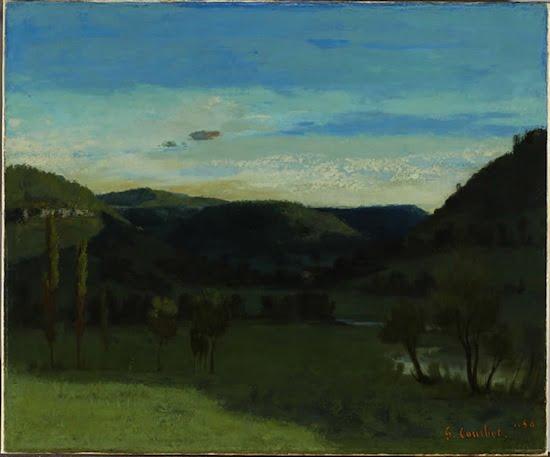 Gustave Courbet Paysage de Vallée près d'Ornans, 1856 Landscape; Valley near Ornans oil on canvas 46 x 55.9 cm Kerry Stokes Collection, Perth