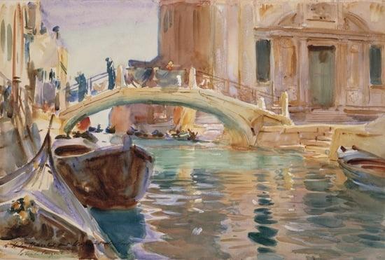 John Singer Sargent San Giuseppe di Castello, Venice, about 1903, Watercolor on paper, 30.6 x 45.8 cm
