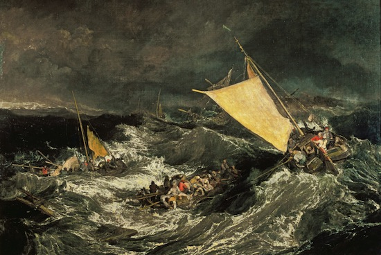 The Shipwreck by J.M.W. Turner, oil on canvas, exhibited at Turner's gallery in 1805© Tate.