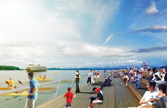 Artist rendering of potential concept for Pier 62/63. Courtesy of Waterfront Seattle.