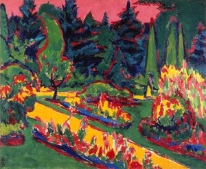 Ernst Ludwig Kirchner. Flower Beds in the Dresden Gardens. c. 1910. The Baltimore Museum of Art: Gift of Curt Valentin Gallery, Inc., BMA 1953.33