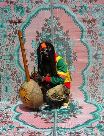 Hassan Hajjaj, still from My Rock Stars Experimental, Volume 1, Boubacar Kafando, 2012, Purchased with funds provided by Art of the Middle East: CONTEMPORARY, courtesy of Rose Issa
