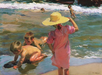 Joaquín Sorolla y Bastida (Spanish, 1863-1923), The Young Amphibians, 1903, oil on canvas. Philadelphia Museum of Art, Philadelphia, Purchased with the W. P. Wilstach Fund, 1904, W1904-1-55.