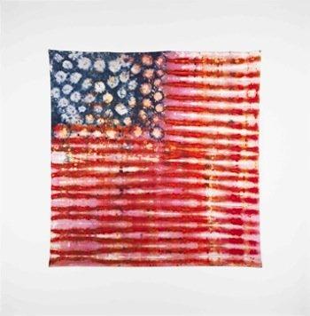 Piotr Uklański, Untitled (Priceless), 2012. Fiber reactive dye on oxidized cotton textile, 105 x105 inches.