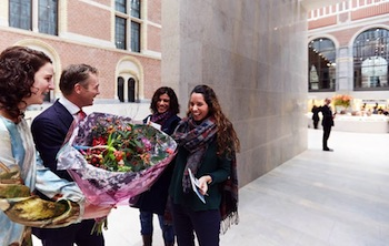 Rijksmuseum receives two millionth visitor Foto Erik Smits