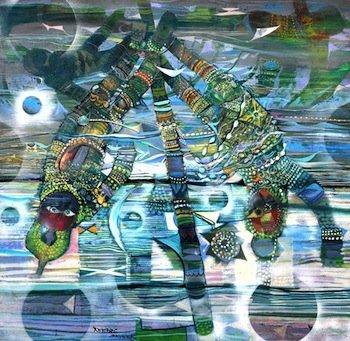 Skunder Boghossian Untitled, 1967 Oil on board 49 x 49⅛ inches First Atlanta University Purchase Award, Paintings (All Media),1970 Courtesy of Clark Atlanta University Art Gallery, Atlanta, GA
