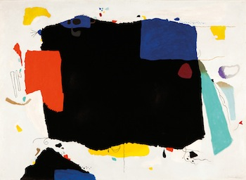 Willi Baumeister, Großes Montaru (Large Montaru), 1953. Oil with synthetic resin on paper on hardboard, 135 x 185 cm. Private collection. Photo: Kunstmuseum Stuttgart. © VG Bild-Kunst, Bonn 2013.