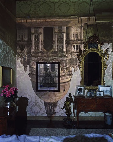 Abelardo Morell (American, born Cuba, 1948) Camera Obscura: Santa Maria della Salute in Palazzo Bedroom, Venice, Italy, 2006 Inkjet print 40 × 30 in. Courtesy of the artist and Edwynn Houk Gallery, New York © Abelardo Morell