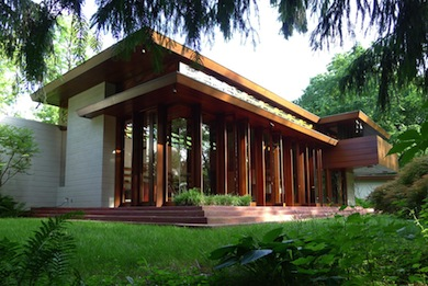 Bachman Wilson House designed by Frank Lloyd Wright. Photo: Tarantino Studio ©2013; courtesy Crystal Bridges Museum of American Art, Bentonville,