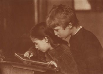 Brother and Sister, about 1906. Heinrich Kühn (Austrian, born Germany, 1866 - 1944). Gum bichromate print. 38.4 x 53 cm (15 1/8 x 20 7/8 in.). The J. Paul Getty Museum, Los Angeles.