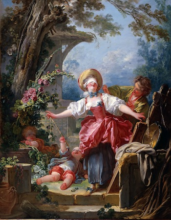 Jean-Honoré Fragonard (French, 1732–1806), Blind-Man's Buff. about 1750–55. Oil on canvas, 46 in. x 36 in. (116.8 cm x 91.4 cm.) Purchased with funds from the Libbey Endowment, Gift of Edward Drummond Libbey, 1954.43