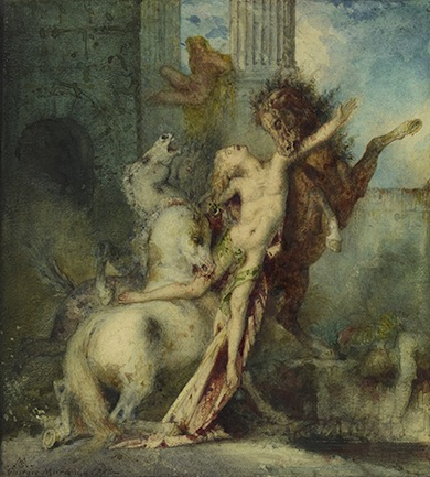 Diomedes Devoured by Horses, 1866. Gustave Moreau (French, 1826–1898). Watercolor over graphite. The J. Paul Getty Museum, Los Angeles.