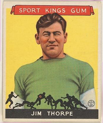 Jim Thorpe, Football Goudey Gum Company (American, Boston, Massachusetts) 1933