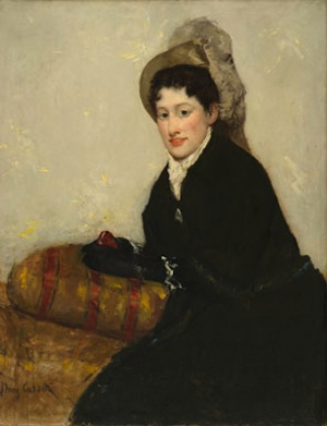Mary Cassatt Portrait of Madame X Dressed for the Matinée, 1877–78, oil on canvas, Gift of Charlotte Hanes in memory of her husband, R. Philip Hanes Jr., and gift of anonymous donors