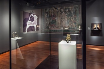 Masterpieces & Curiosities: A Medieval Aquamanile, 2013. Exhibtion view, The Jewish Museum, New York, 2013. Photo: David Heald. © The Jewish Museum, 2013.