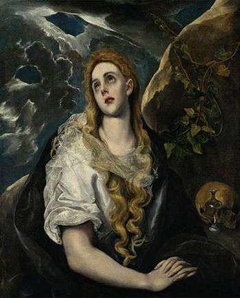 Domenikos Theotokopoulos, called El Greco. Spanish, 1541–1614. The Penitent Magdalene, ca. 1580–1585. Oil on canvas. Purchase: Nelson Trust,