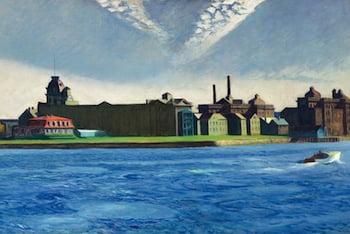 Edward Hopper, Blackwell's Island, 1928Oil on canvas. Crystal Bridges Museum of American Art, Bentonville, Arkansas. Photo ©