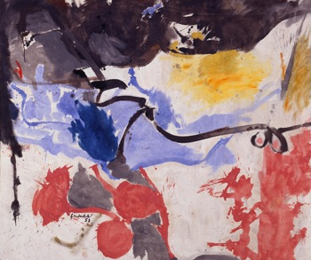 Helen Frankenthaler, Hotel Cro-Magnon, 2013. Oil on canvas. Courtesy Milwaukee Art Museum. © ARS, NY and DACS, London.