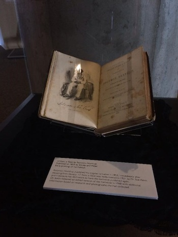 1st edition copy of Twelve Years a Slave by Solomon Northup, now on display at the National Underground Railroad Freedom Center.