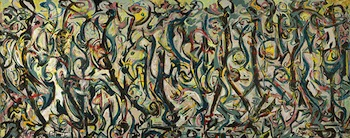 Mural, 1943, Jackson Pollock. Oil and casein on canvas. University of Iowa Museum of Art, Gift of Peggy Guggenheim, 1959.6. Reproduced with permission from the University of Iowa