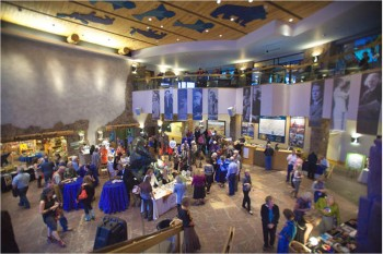Artists and patrons meet and mingle over Western Visions art offerings at the National Museum of Wildlife Art in Jackson Hole
