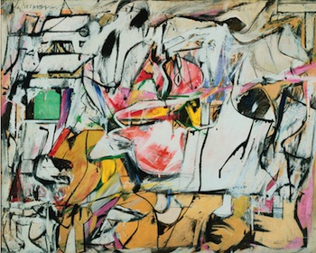 Willem De Kooning, Asheville, 1948. Oil and enamel on cardboard 25 9/16 x 31 7/8 in. The Phillips Collection, Washington, DC. Acquired 1952 © 2013 The Willem de Kooning Foundation / Artists Rights Society (ARS), New York.