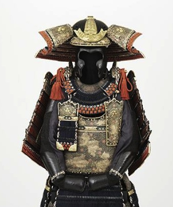 Armor of the ōyoroi type (ōyoroi tōsei gusoku) Mid-Edo period, late 18th century Iron, leather, gold, bronze, copper 56 x 22 ½ x 23 in. (142.24 x 57.15 x 58.42 cm)