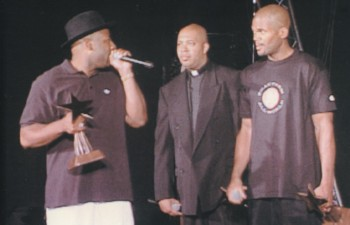 Run DMC Inducted Into the Hip Hop Hall of Fame on BET Network in the 90s