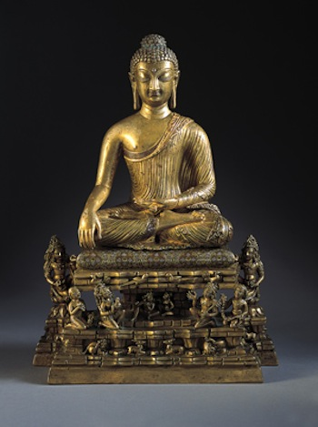 Buddha and Adorants on the Cosmic Mountain, c. 700 India: Kashmir, 675 725 Bronze with silver and copper inlay 13-1/4 x 9-1/2 x 4-3/4 in. (33.7 x 24.1 x 12.1 cm) The Norton Simon Foundation