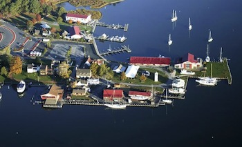 Two-day admission to the Chesapeake Bay Maritime Museum (CBMM) in St. Michaels, MD is now the general admission to CBMM's 18-acre waterfront campus and twelve exhibit buildings, with festival dates excluded Photo courtesy of Aloft Aerial Photography.