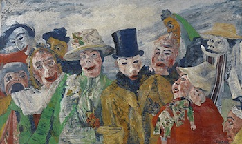 The Intrigue, 1911. James Ensor (Belgian 1860-1949). Image courtesy of the Royal Museum of Fine Arts Antwerp. © Lukas-Art in Flanders vzw,photo Hugo Maertens. Artwork © 2014 Artists Rights Society (ARS), New York/SABAM, Brussels.