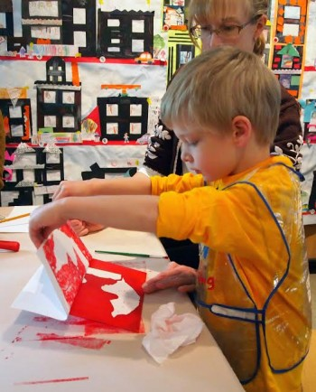 Children can participate in printmaking projects at the Katonah Museum of Art's School's Out/Art's program during spring break.
