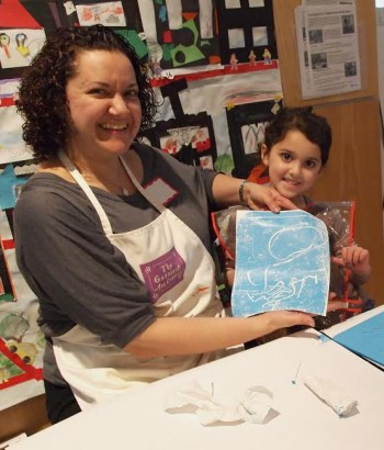 Children ages 3-5 are introduced to the museum experience and art exploration at Tuesdays for Tots, a 6-session art workshop at the Katonah Museum of Art.