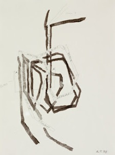 Al Taylor Untitled (Study for Distill), 1988 Ink and pencil on paper 12 x 9 inches (30.48 x 22.86 cm)  Collection of The Glass House