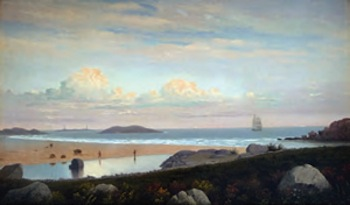 Fitz Henry (Hugh) Lane (1804 – 1865)  Thatcher's Light from Good Harbor Beach, Gloucester, c.1852  Oil on canvas  Private Collection