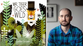 """Author/artist Peter Brown wins the 2014 Bull-Bransom Award for his illustration of """"Mr. Tiger Goes Wild."""""""