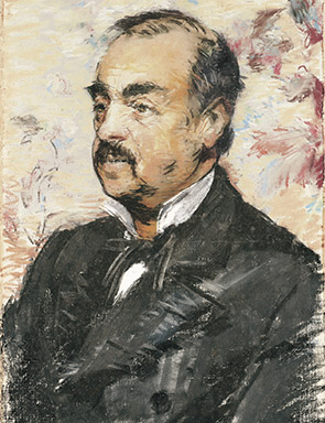 Portrait of Julien de la Rochenoire (1882). Edouard Manet (1832-1883). Pastel on canvas. 21 7/8 x 13 3/4 in.