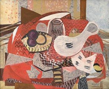 Georges Braque, Still Life with Red Tablecloth (Nature morte à la nappe rouge), 1934. Oil on canvas, 81 x 101 cm. Private collection. © Georges Braque, VEGAP, Bilbao, 2014. Photo © Laurens / Leiris SAS Paris.