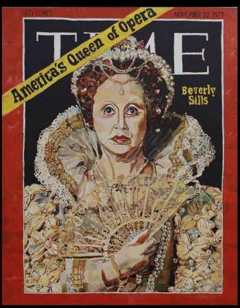 """Malcolm Morley  """"America's Queen of Opera,"""" 1971 Oil on canvas 60 x 48 inches Yale University Art Gallery  Gift of Gilbert H. Kinney, B.A. 1953, M.A. 1954"""
